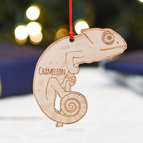 Personalised Chameleon Decoration