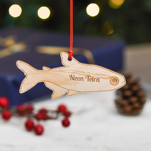 Personalised Neon Tetra Fish Decoration