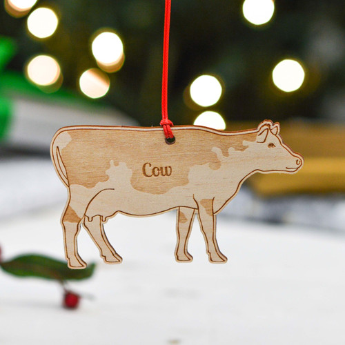 Personalised Cow Farm Decoration
