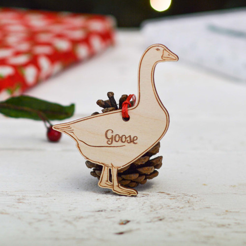 Personalised Goose Decoration
