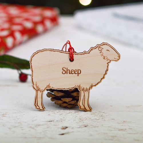 Personalised Sheep Farm Decoration