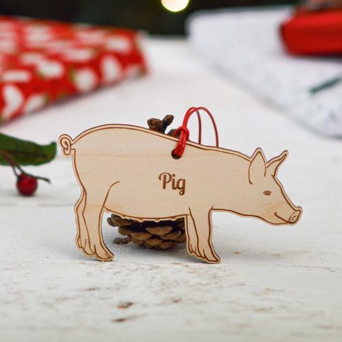 Personalised Pig Farm Decoration