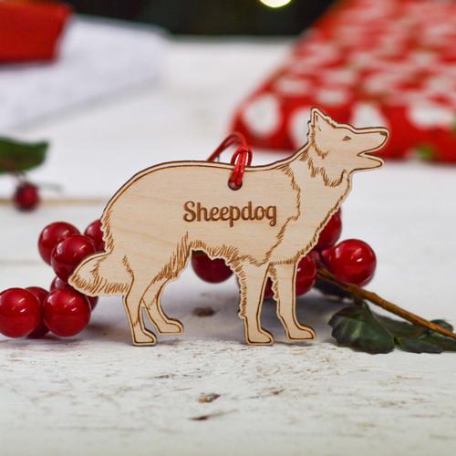 Personalised Sheepdog Decoration