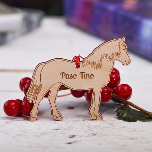 Personalised Paso Fino Horse Decoration