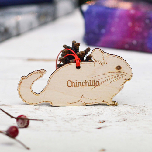 Personalised Chinchilla Decoration