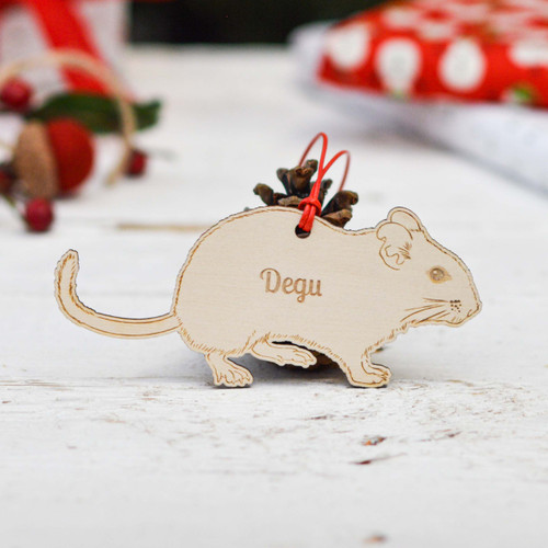 Personalised Degu Pet Decoration
