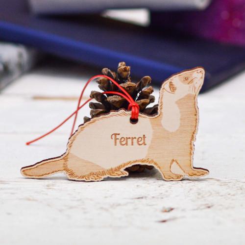 Personalised Ferret Pet Decoration