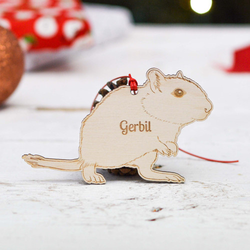 Personalised Gerbil Decoration