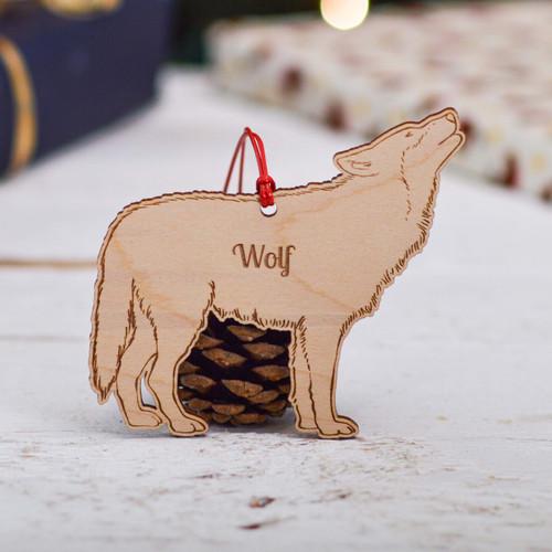 Personalised Wolf Decoration