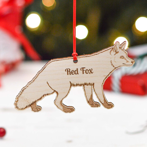 Personalised Red Fox Decoration