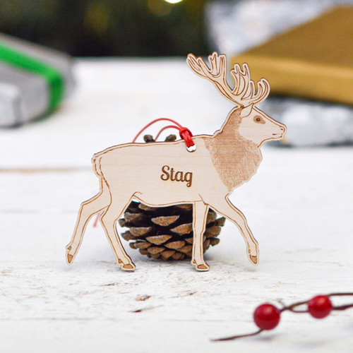 Personalised Stag Decoration