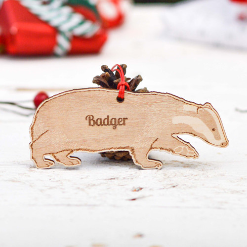Personalised Badger Decoration