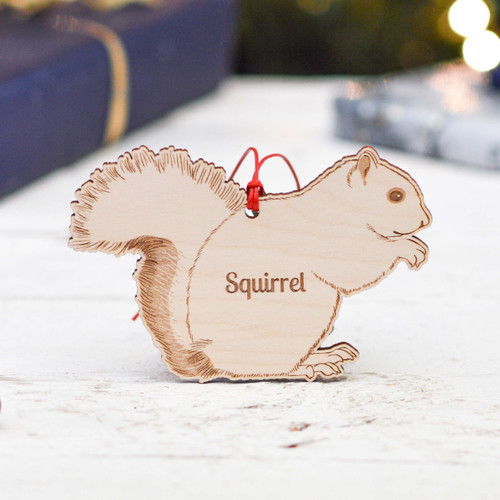 Personalised Squirrel Decoration