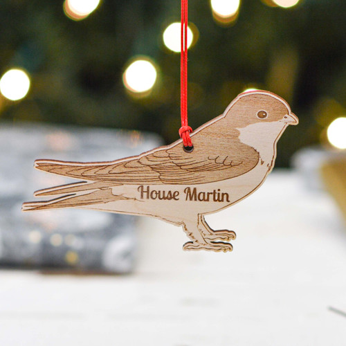 Personalised House Martin Decoration