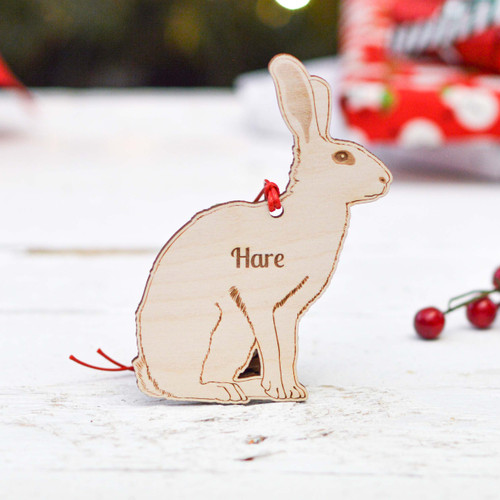 Personalised Hare Decoration