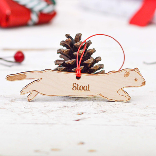 Personalised Stoat Decoration