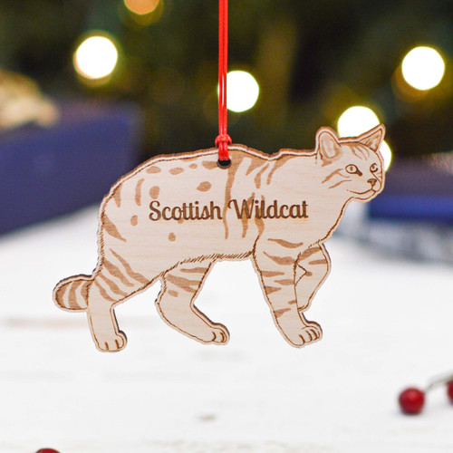 Personalised Scottish Wildcat Decoration