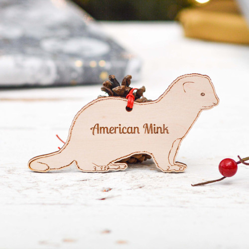 Personalised American Mink Decoration