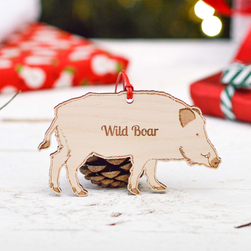 Personalised Wild Boar Decoration