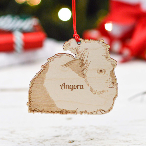 Personalised Angora Rabbit Decoration