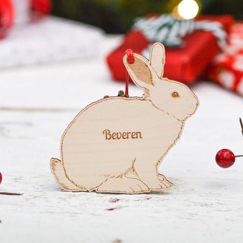 Personalised Beveren Rabbit Decoration