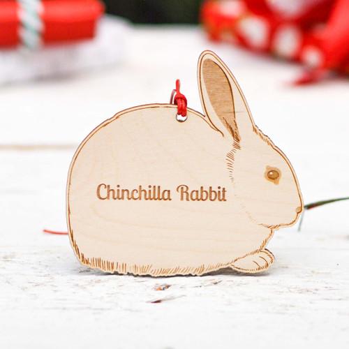 Personalised Chinchilla Rabbit Decoration