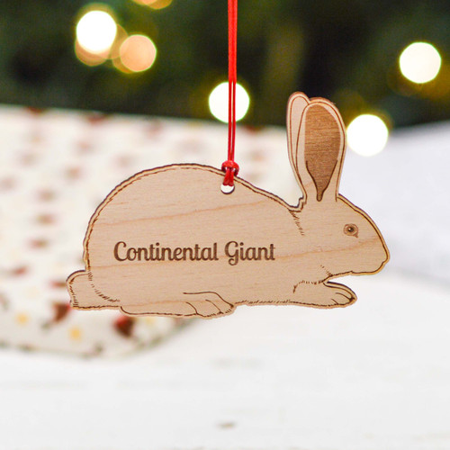 Personalised Continental Giant Rabbit Decoration