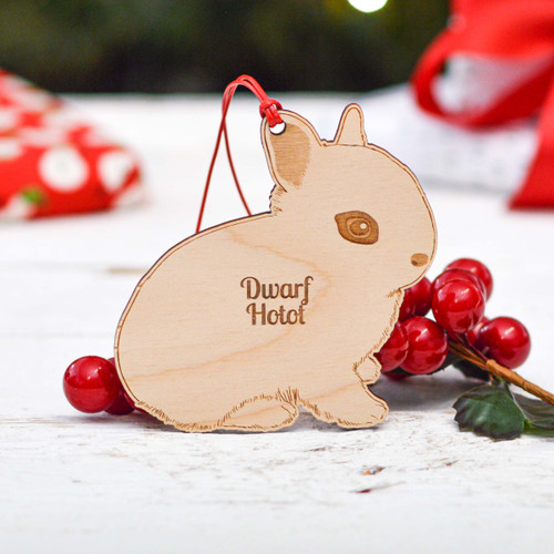 Personalised Dwarf Hotot Rabbit Decoration
