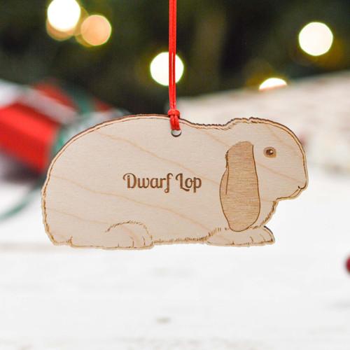 Personalised Dwarf Lop Rabbit Decoration