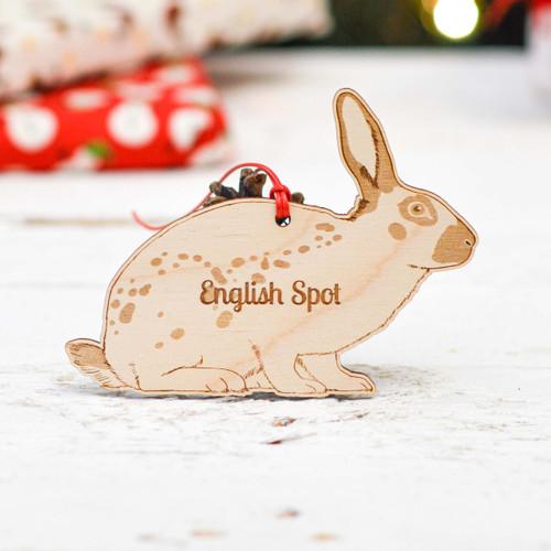 Personalised English Spot Rabbit Decoration