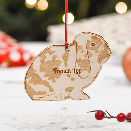 Personalised French Lop Rabbit Decoration