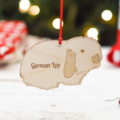 Personalised German Lop Rabbit Decoration