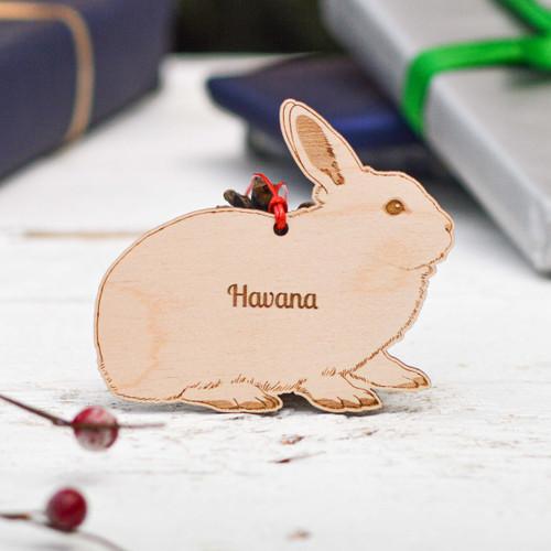 Personalised Havana Rabbit Decoration