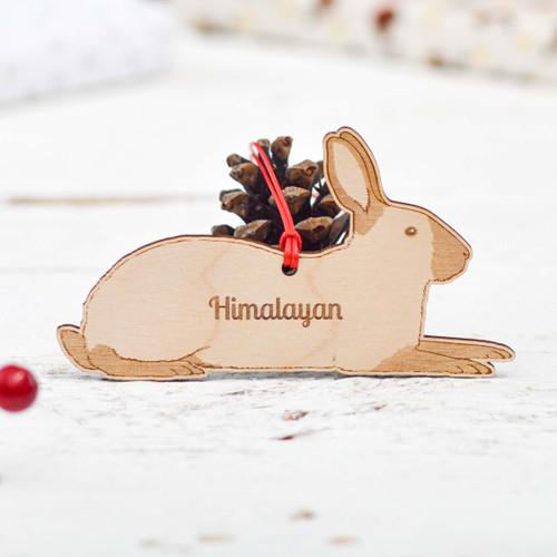 Personalised Himalayan Rabbit Decoration