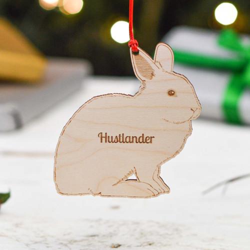 Personalised Hulstander Rabbit Decoration