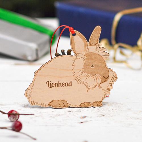 Personalised Lionhead Rabbit Decoration