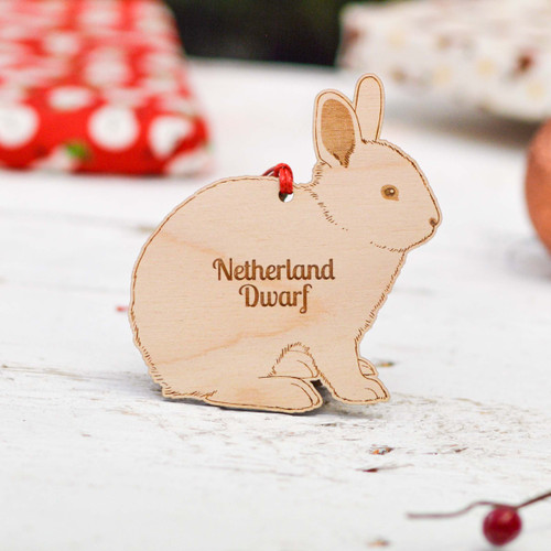 Personalised Netherland Dwarf Rabbit Decoration