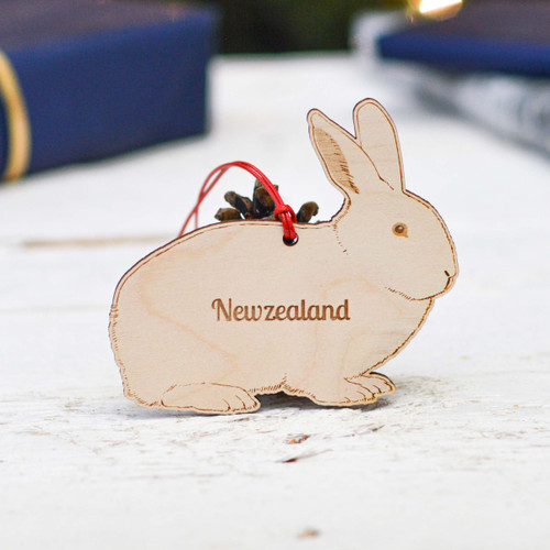 Personalised New Zealand Rabbit Decoration