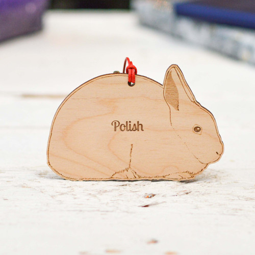 Personalised Polish Rabbit Decoration