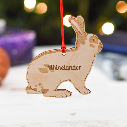 Personalised Rhinelander Rabbit Decoration