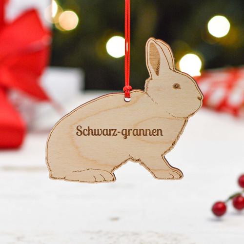 Personalised Schwarzgrannen Rabbit Decoration