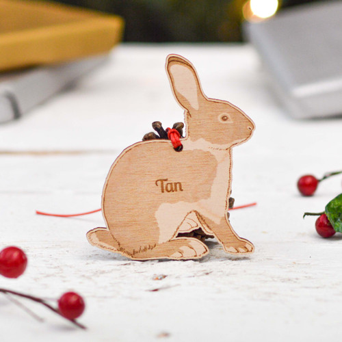 Personalised Tan Rabbit Decoration