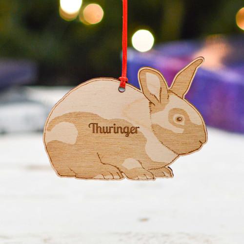 Personalised Thuringer Rabbit Decoration