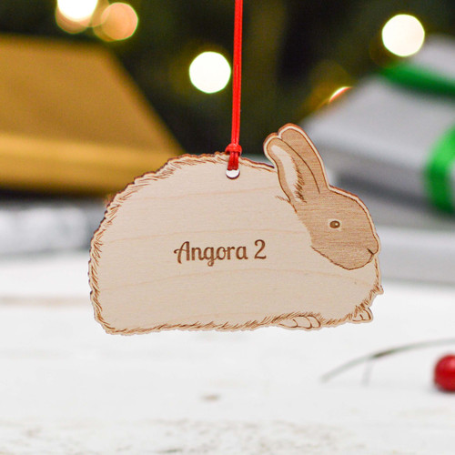 Personalised Angora 2 Rabbit Decoration
