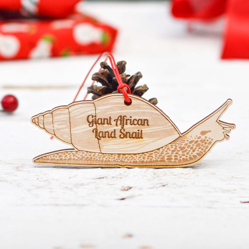 Personalised Giant African Land Snail Decoration