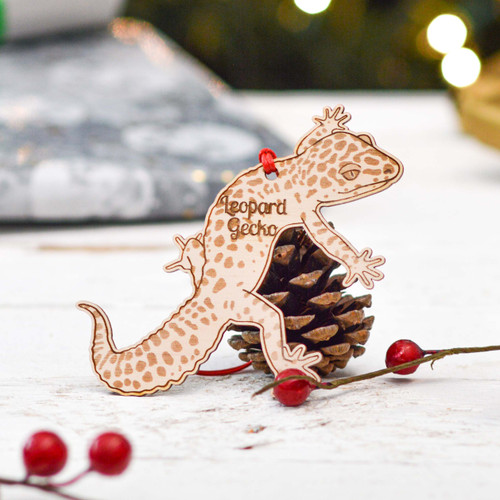 Personalised Leopard Gecko Decoration