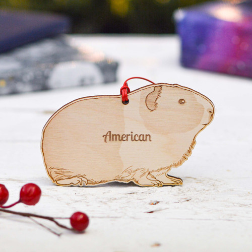 Personalised American Guinea Pig Decoration