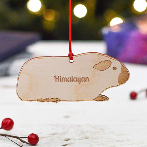Personalised Himalayan Guinea Pig Decoration
