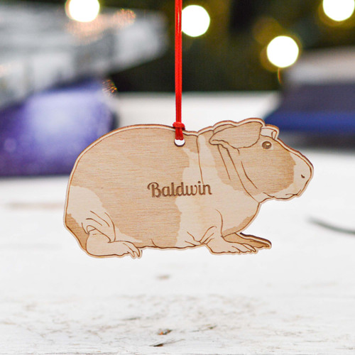 Personalised Baldwin Guinea Pig Decoration