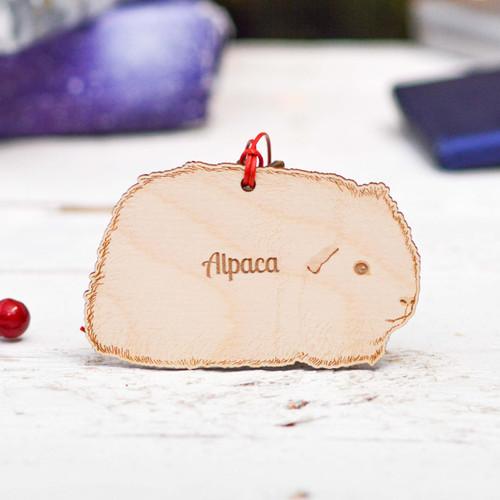 Personalised Alpaca Guinea Pig Decoration
